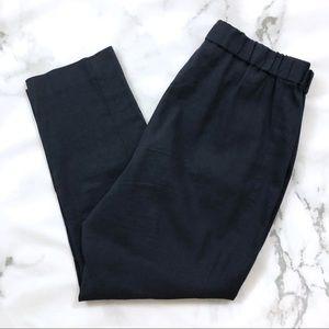 Theory Navy Linen Blend Slim Pants
